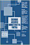 Obálka Sborník Archivu Ministerstva vnitra 4/2006 - ilustrační foto