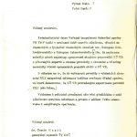 Koncept dopisu generálnímu tajemníkovi ÚV KSČ Gustávu Husákovi z listopadu 1974, v němž jej vedení Kriminalistického ústavu Veřejné bezpečnosti informuje o výsledcích odborného zkoumání Rukopisu královédvorského a Rukopisu zelenohorského