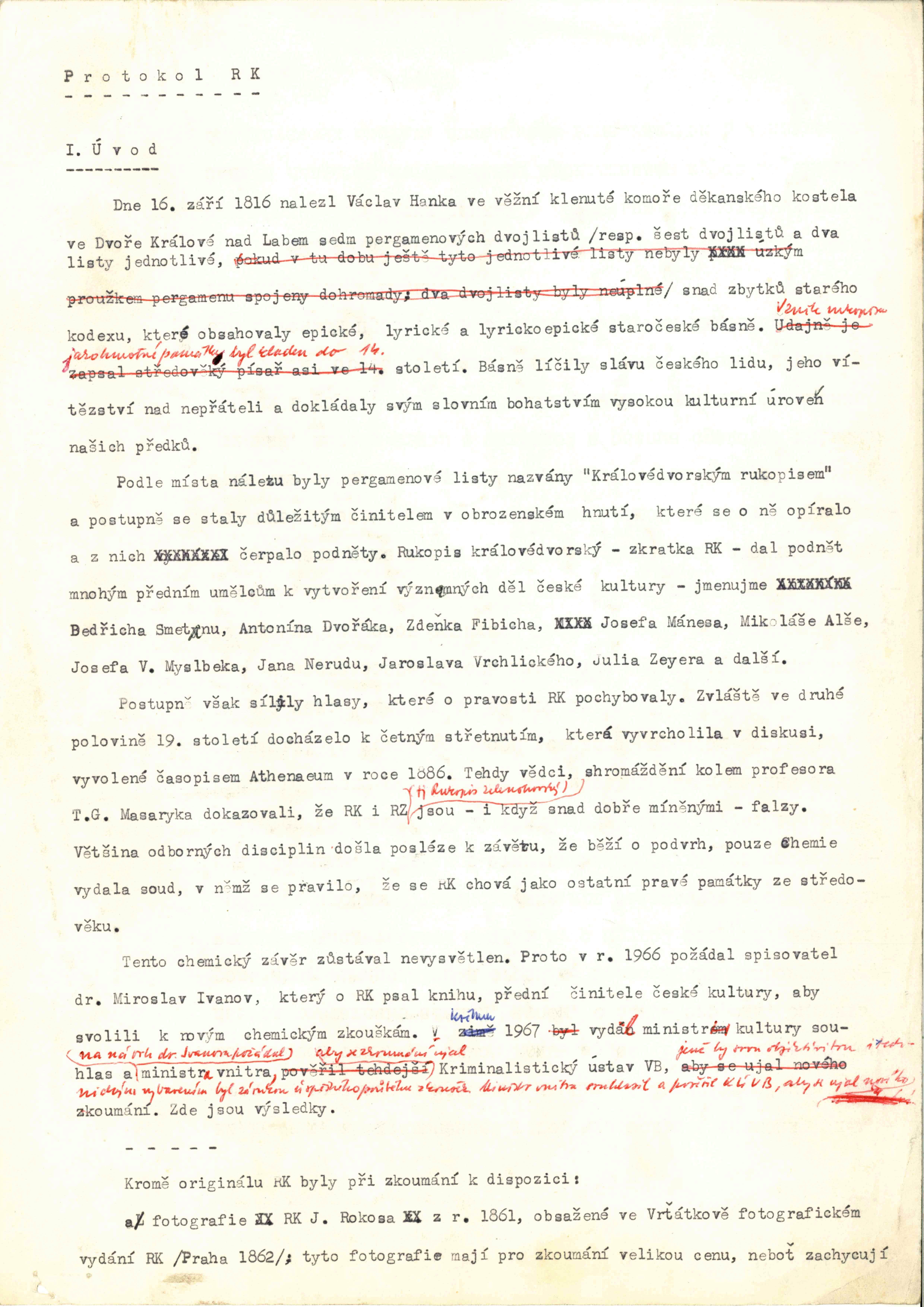 Datování nových rukopisů rukopisů