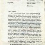 Stížnost ohledně prodlužování prací v Národním památníku (leden 1954) 1