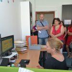 Na pracovišti tzv. skupiny evidenční si mohli návštěvníci prohlédnout, jak vypadají záznamy vedené na Ludvíka Vaculíka v dochovaných evidencích bezpečnostních složek