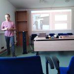 Kamil Činátl z Ústavu pro studium totalitních režimů prezentuje digitální aplikaci pro práci s prameny HistoryLab
