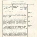 Informační zpráva pro ministra národní obrany z listopadu 1985