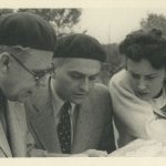 Jaroslav Kratochvíl (in the middle) with Lída Baarová, July 1940.