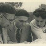 Jaroslav Kratochvíl (uprostřed) v červenci 1940 s Lídou Baarovou.