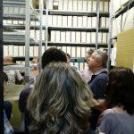 Prohlídka zajímavých archiválií v depozitářích