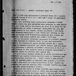 Front page of the document describing the installation of the technical device in the flat. Intelligence Equipment Directorate collection, file B-1151 ZT.