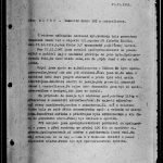Report on deinstallation of the eavesdropping device from the flat of the Radoks' on 27 November 1961. Intelligence Equipment Directorate collection, file B-1151 ZT.