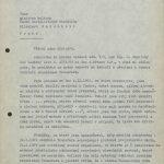 Dopis prof. Wünsche ministru kultury, v němž se snaží zabránit svému odvolání z funkce ředitele Transfery (1. strana)