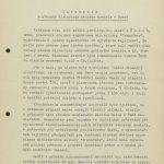 Informace vyšetřovatele Správy vyšetřování VB Praha mjr. Mejzlíka o výsledcích šetření přípravy přesunu mosteckého kostela z července 1969 (1. strana)