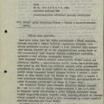 Letter from prof. Wünsch to the Minister of Culture asking to intervene in his dispute with the management of Transfera (front page)