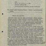 Dopis prof. Wünsche ministru kultury, aby intervenoval v jeho sporu s vedením Transfery o vlastnictví matric (1. strana)