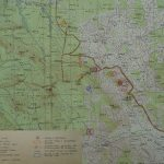 Part of a map of a military training area Boletice including exploration sites for 1965; 1961.