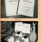 Classified military materials and chemical safety mask