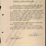 """Rozhodnutí o uložení osobního svazku IS """"Rado"""" do archivu ze dne 6. 8. 1970"""